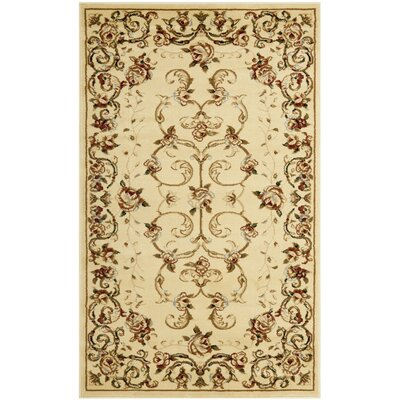 Taufner Ivory Area Rug Rug Size: Rectangle 33 x 53
