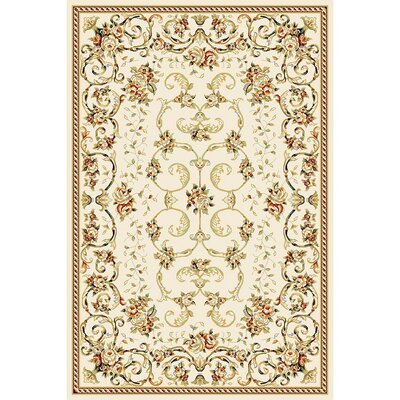 Taufner Ivory Area Rug Rug Size: Rectangle 53 x 76