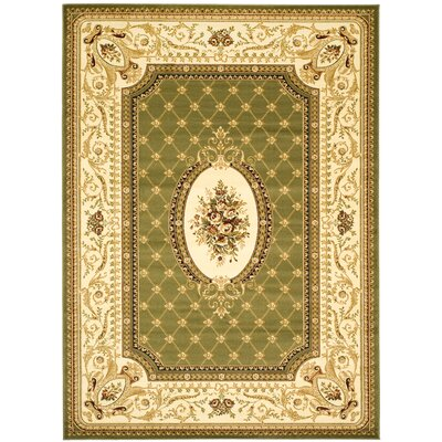 Taufner Sage/Ivory Area Rug Rug Size: Rectangle 53 x 76