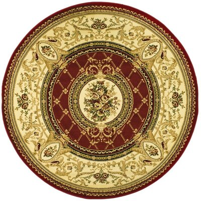 Taufner Red/Ivory Area Rug Rug Size: Rectangle 33 x 53