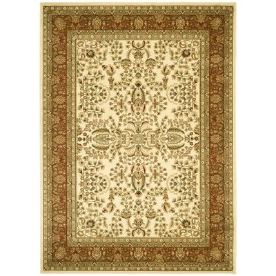 Taufner Ivory/Rust Area Rug Rug Size: 8 x 11