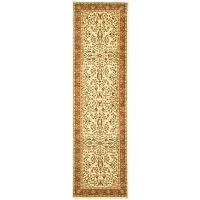 Taufner Brown/Orange Area Rug Rug Size: Runner 23 x 8