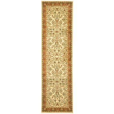 Taufner Ivory/Rust Area Rug Rug Size: Runner 23 x 8
