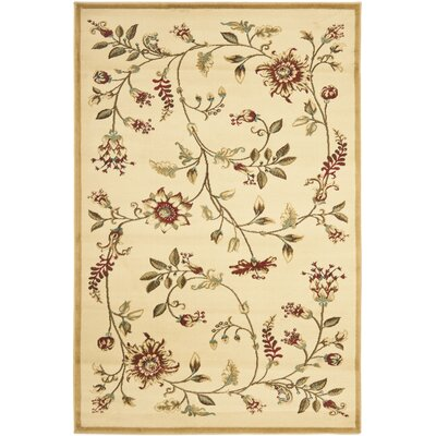 Taufner Ivory Area Rug Rug Size: 4 x 6