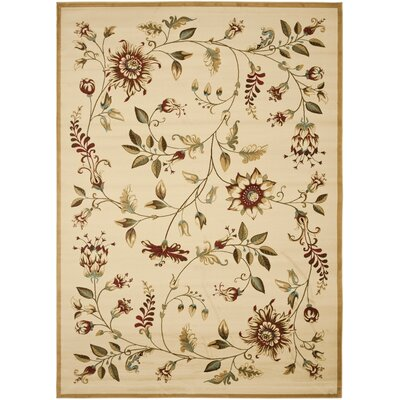 Taufner Ivory Area Rug Rug Size: 8 x 11