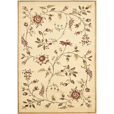 Taufner Ivory Area Rug Rug Size: 53 x 76