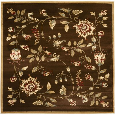 Taufner Brown Area Rug Rug Size: Square 6'7