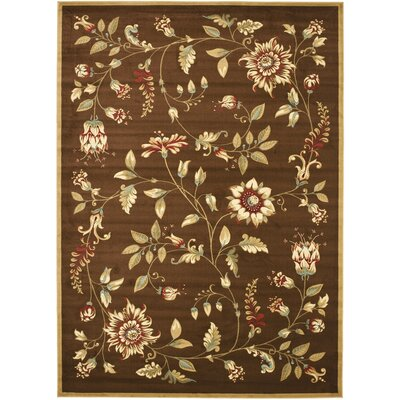 Taufner Brown Area Rug Rug Size: 8 x 11