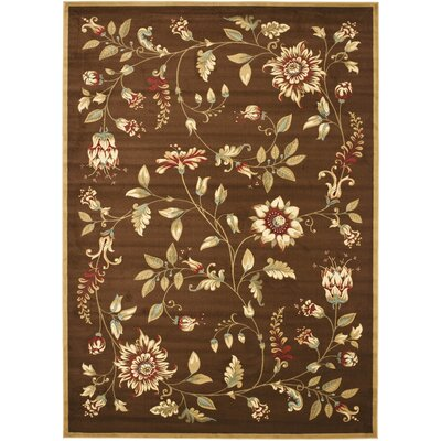Taufner Brown Area Rug Rug Size: 4 x 6