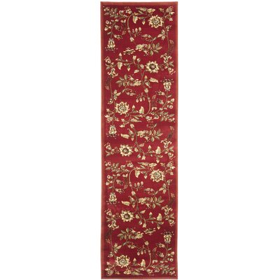 Taufner Red Area Rug Rug Size: Runner 23 x 16