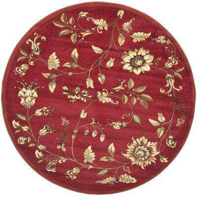 Taufner Red Area Rug Rug Size: Rectangle 67 x 96
