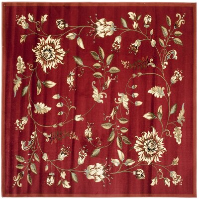 Taufner Red Area Rug Rug Size: Square 67