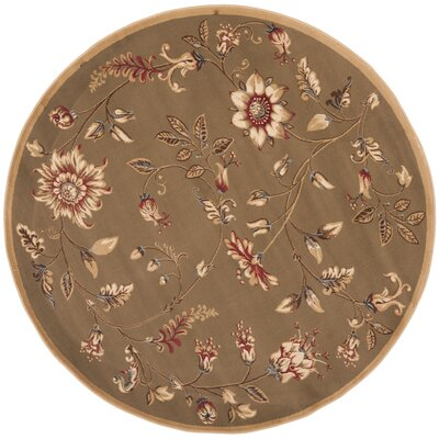 Taufner Brown Area Rug Rug Size: Round 53