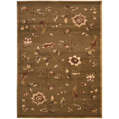 Taufner Brown Area Rug Rug Size: 67 x 96