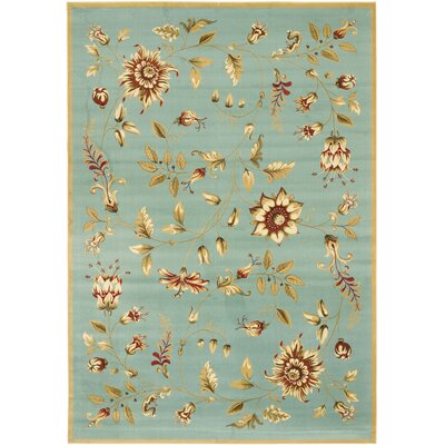 Taufner Blue Area Rug Rug Size: Rectangle 53 x 76
