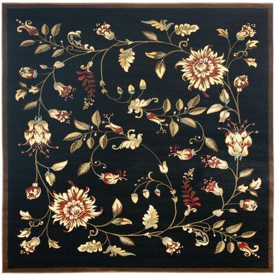 Taufner Black Area Rug Rug Size: Square 67