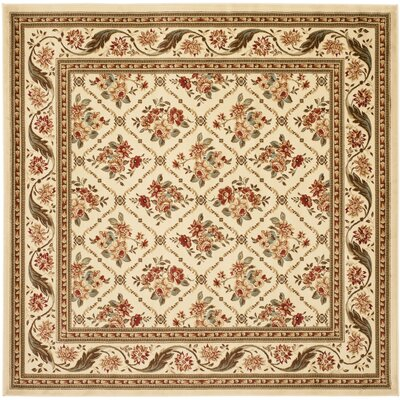 Taufner Ivory Area Rug Rug Size: Square 67