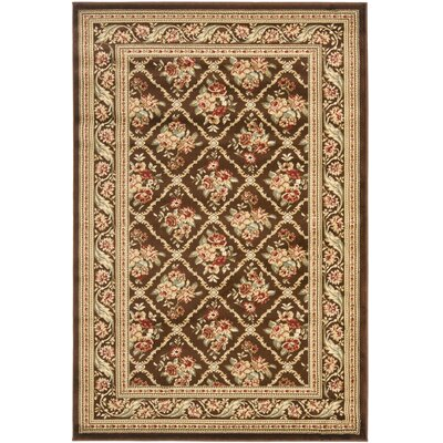 Taufner Brown Area Rug Rug Size: Rectangle 4 x 6