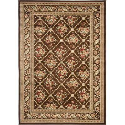 Taufner Brown Area Rug Rug Size: 53 x 76