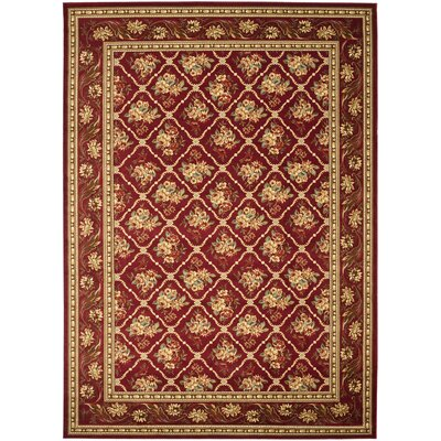 Taufner Red Area Rug Rug Size: 8 x 11
