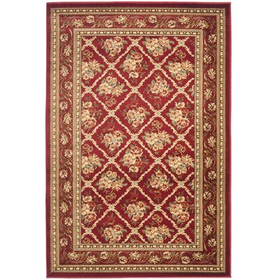 Taufner Red Area Rug Rug Size: 4 x 6