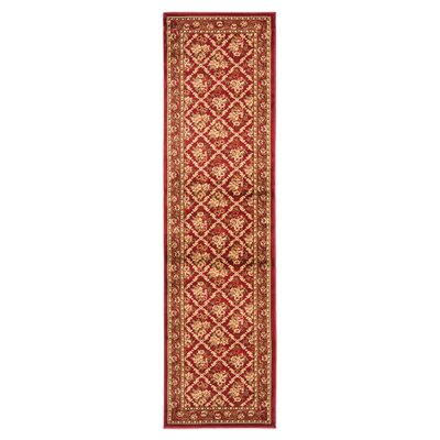 Taufner Red Area Rug Rug Size: Runner 23 x 8
