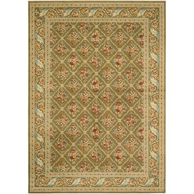 Taufner Green Area Rug Rug Size: 8 x 11
