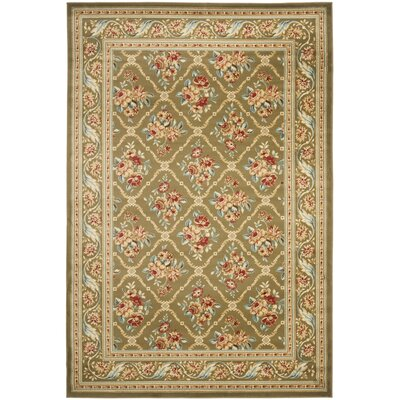 Taufner Green Area Rug Rug Size: Rectangle 33 x 53