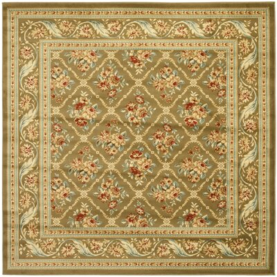 Taufner Green Area Rug Rug Size: Square 67