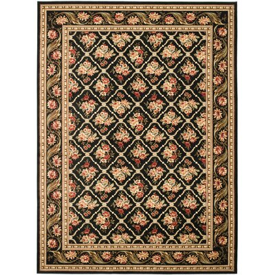 Taufner Black Area Rug Rug Size: Rectangle 53 x 76