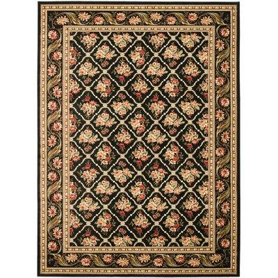 Taufner Black Area Rug Rug Size: 67 x 96