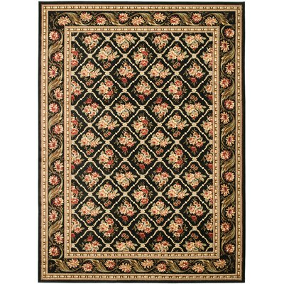 Taufner Black Area Rug Rug Size: 53 x 76