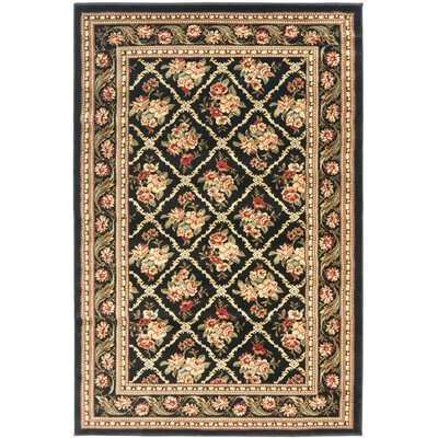 Taufner Black Area Rug