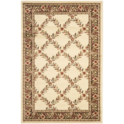 Taufner Ivory/Brown Checked Area Rug Rug Size: 4 x 6