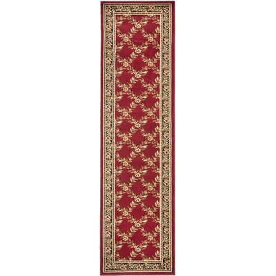 Taufner Red/Black Area Rug Rug Size: Runner 2'3