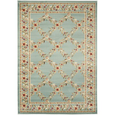 Taufner Blue Checked Area Rug Rug Size: 53 x 76