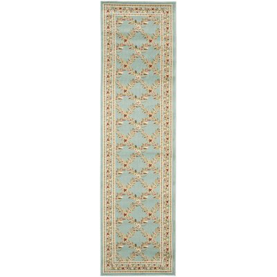 Taufner Blue Checked Area Rug Rug Size: Runner 23 x 12