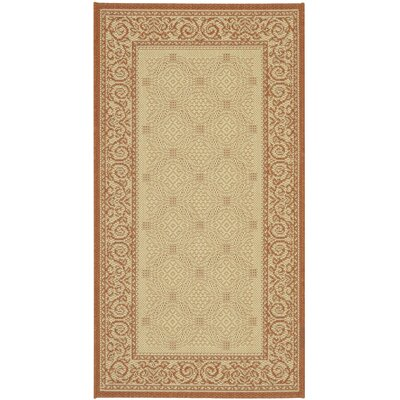 Beasley Vine Border Outdoor Rug Rug Size: Rectangle 67 x 96