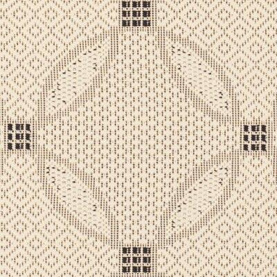 Beasley Ivory/Black Border Outdoor Rug Rug Size: Square 710