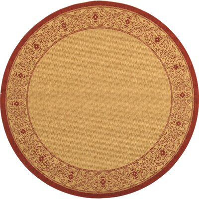 Beasley Border Outdoor Rug Rug Size: Round 53