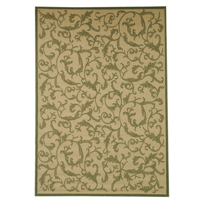 Beasley All Over Ivy Outdoor Rug Rug Size: 53 x 77