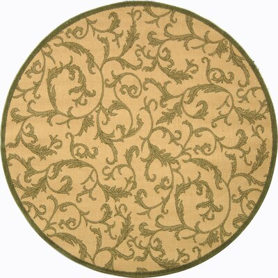 Beasley All Over Ivy Outdoor Rug Rug Size: Round 67