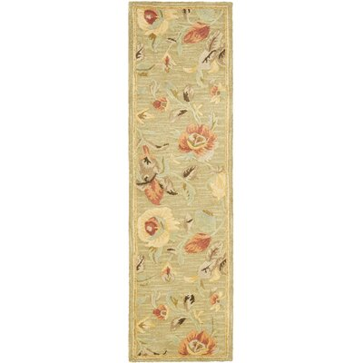 Jani Contemporary Green Area Rug Rug Size: Runner 23 x 8