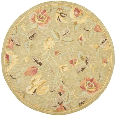 Jani Contemporary Green Area Rug Rug Size: Round 6