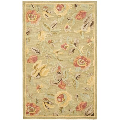 Jani Contemporary Green Area Rug Rug Size: 5 x 8