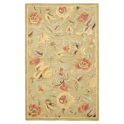 Jani Contemporary Green Area Rug Rug Size: 2 x 3