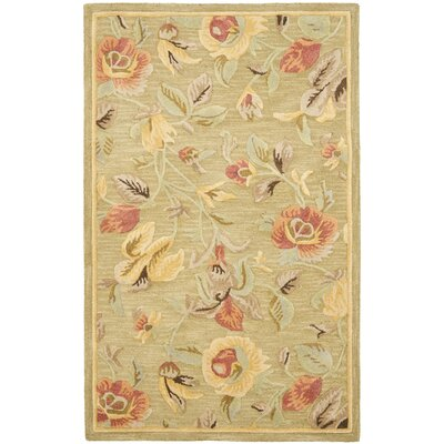Jani Contemporary Green Area Rug Rug Size: Rectangle 8 x 10
