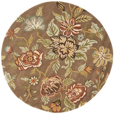 Jani Brown Area Rug Rug Size: Round 6