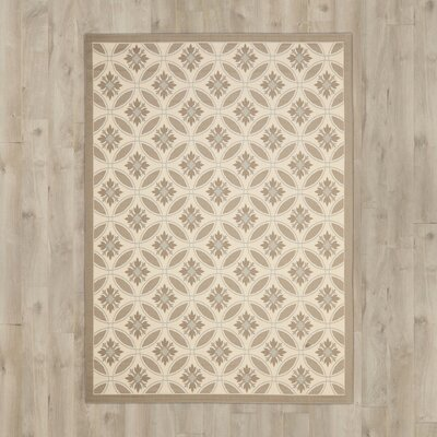Beasley Beige/Tan Indoor/Outdoor Area Rug Rug Size: Rectangle 9 x 12