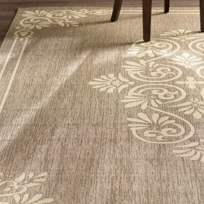 Beasley Brown/Creme Indoor/Outdoor Area Rug